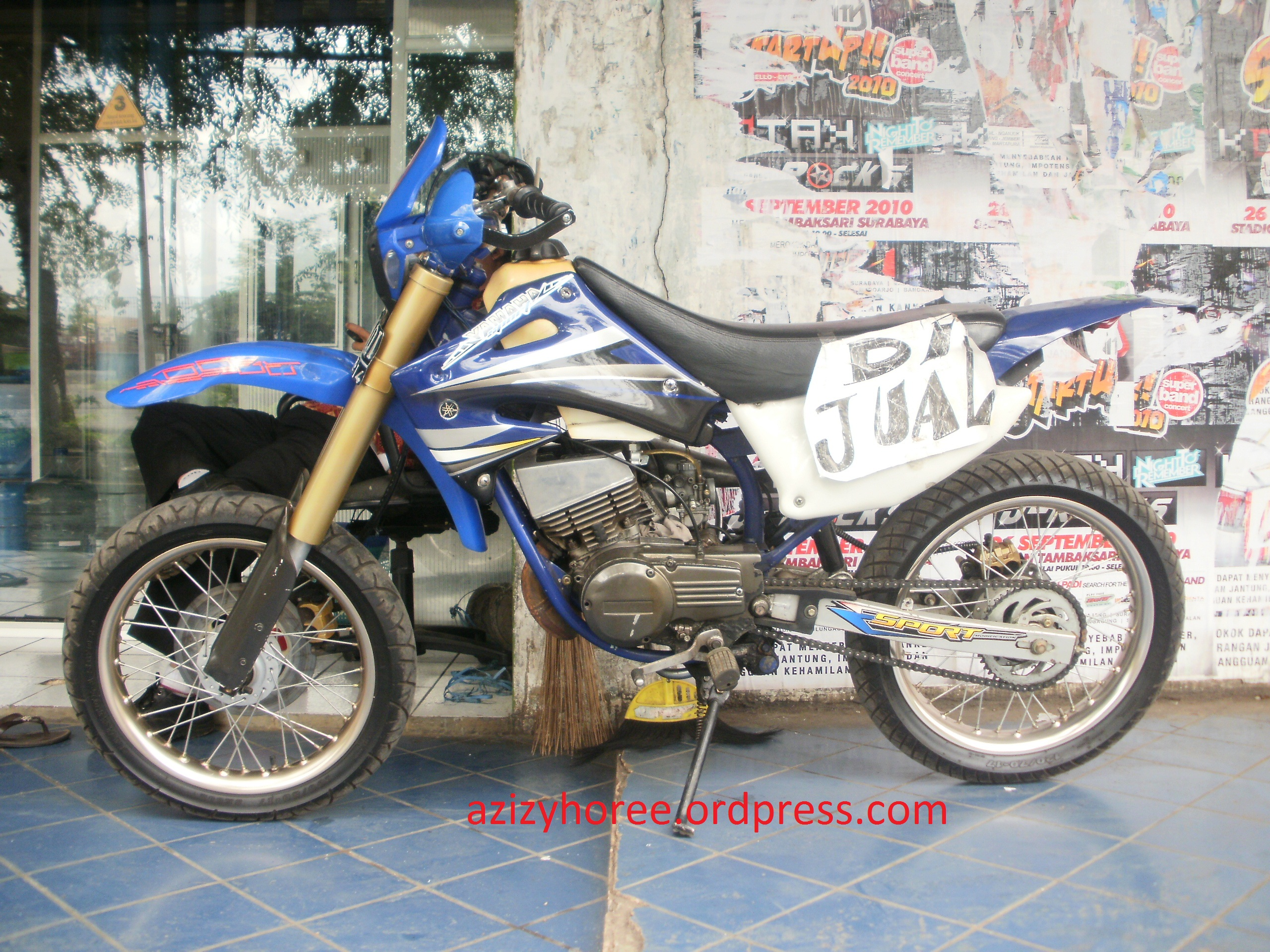 Modifikasi Super Motard Trail Yamaha Azizyhoree Blog